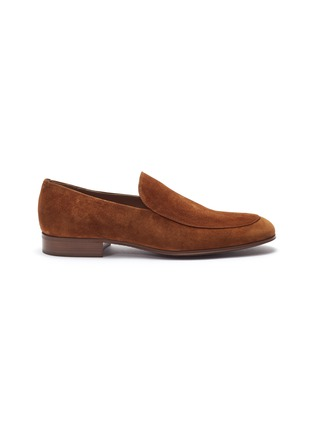 Main View - Click To Enlarge - Gianvito Rossi - Suede loafers