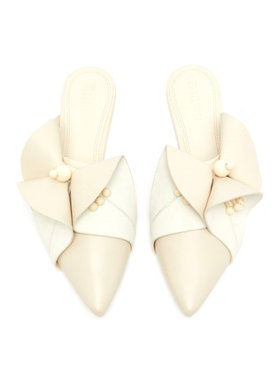 Detail View - Click To Enlarge - MERCEDES CASTILLO - 'Fresia' floral appliqué leather slides