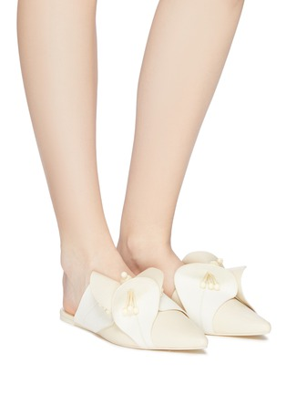 Figure View - Click To Enlarge - MERCEDES CASTILLO - 'Fresia' floral appliqué leather slides