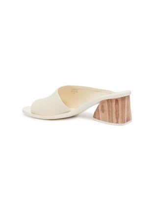 - MERCEDES CASTILLO - 'Izar Mid' wooden heel leather sandals