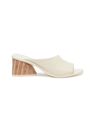 Main View - Click To Enlarge - Mercedes Castillo - 'Izar Mid' wooden heel leather sandals