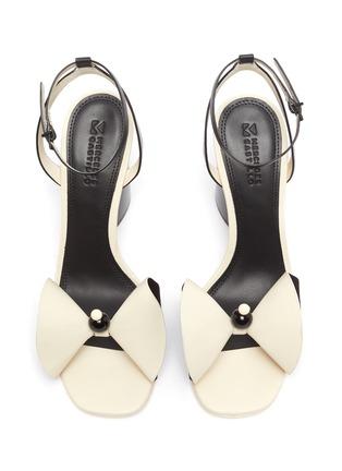 Detail View - Click To Enlarge - MERCEDES CASTILLO - 'Tila' ankle strap beaded floral leather sandals