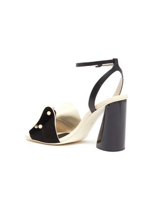 - MERCEDES CASTILLO - 'Tila' ankle strap beaded floral leather sandals