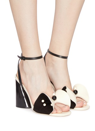 Figure View - Click To Enlarge - MERCEDES CASTILLO - 'Tila' ankle strap beaded floral leather sandals