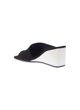 Back View - Click To Enlarge - MERCEDES CASTILLO - 'Alba' kid suede wedge sandals