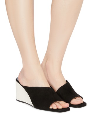 Figure View - Click To Enlarge - Mercedes Castillo - 'Alba' kid suede wedge sandals