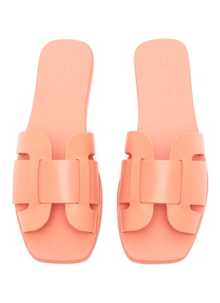 Detail View - Click To Enlarge - Mercedes Castillo - 'Coraline' cutout leather slide sandals