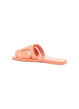 - Mercedes Castillo - 'Coraline' cutout leather slide sandals