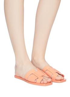 Mercedes Castillo 'Coraline' cutout leather slide sandals