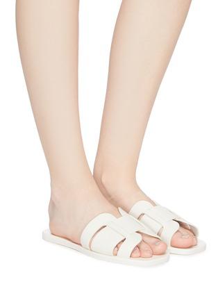 Figure View - Click To Enlarge - MERCEDES CASTILLO - 'Coraline' cutout leather slide sandals