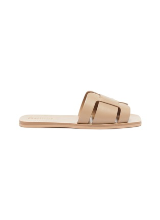 Main View - Click To Enlarge - MERCEDES CASTILLO - 'Coraline' cutout leather slide sandals