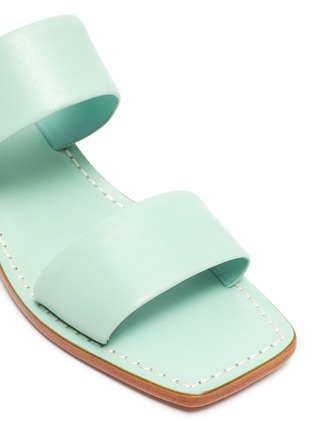 Detail View - Click To Enlarge - MERCEDES CASTILLO - 'Lavinia' contrast block heel leather sandals