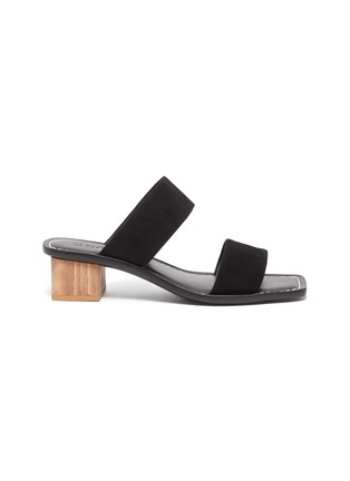 Main View - Click To Enlarge - MERCEDES CASTILLO - 'Lavinia' wooden block heel suede sandals