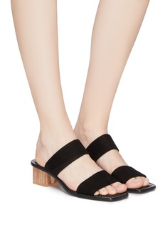 Mercedes Castillo 'Lavinia' wooden block heel suede sandals