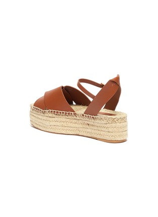 - MERCEDES CASTILLO - 'Xiemena' ankle strap leather espadrille flatform sandals