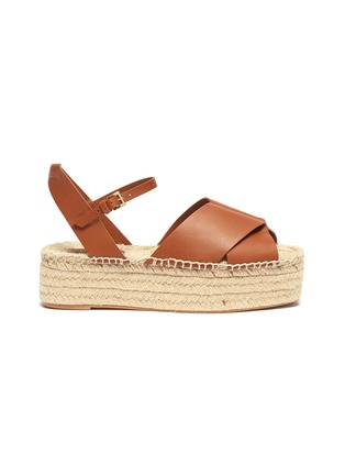 Main View - Click To Enlarge - MERCEDES CASTILLO - 'Xiemena' ankle strap leather espadrille flatform sandals
