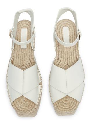 Detail View - Click To Enlarge - MERCEDES CASTILLO - 'Xiemena' ankle strap leather espadrille flatform sandals