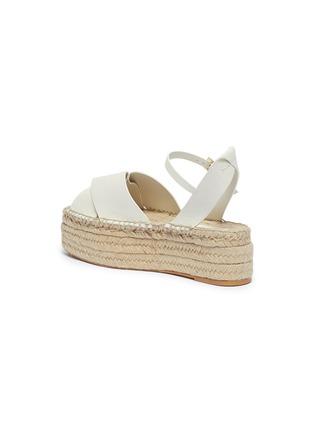 - MERCEDES CASTILLO - 'Xiemena' ankle strap leather espadrille flatform sandals