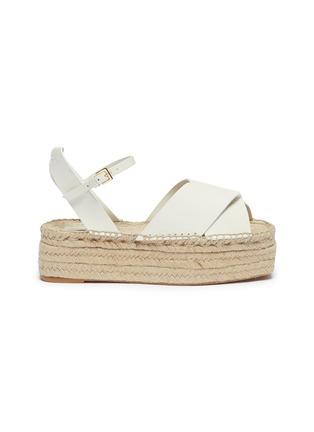 Main View - Click To Enlarge - MERCEDES CASTILLO - 'Xiemena' ankle strap leather espadrille flatform sandals