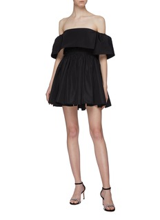 Alex Perry 'Elodie' drape panel off-shoulder silk taffeta mini dress