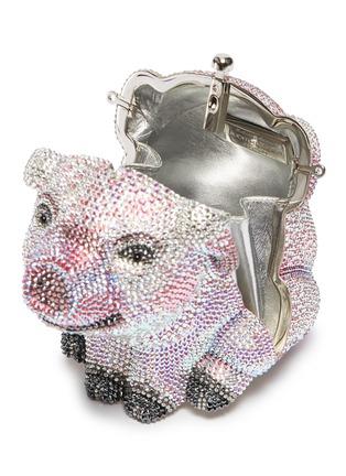 Detail View - Click To Enlarge - JUDITH LEIBER - 'Wilbur Pig' crystal pavé minaudière