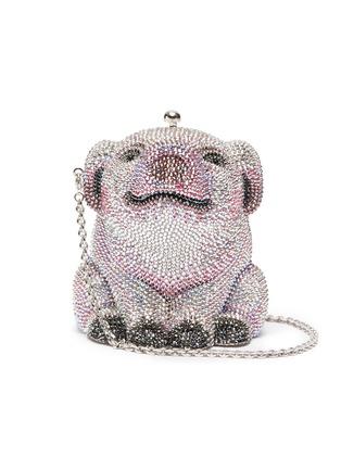 Main View - Click To Enlarge - JUDITH LEIBER - 'Wilbur Pig' crystal pavé minaudière