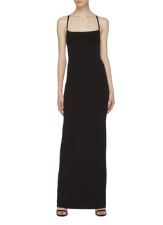Solace London 'Saruo' split back strappy crepe gown