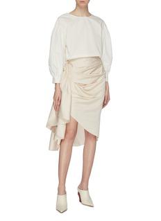 Solace London 'Belot' gathered drape skirt