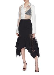 Dion Lee 'Honeycomb' lasercut handkerchief skirt