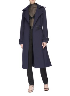 Dion Lee 'Binary' belted pleated back trench coat