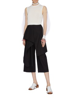 ENFÖLD Two-in-one mesh blouse and knit sleeveless top