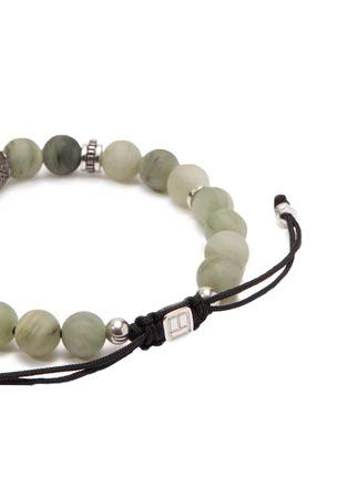 Detail View - Click To Enlarge - TATEOSSIAN - 'Macrame Stratus' green line jasper bead bracelet