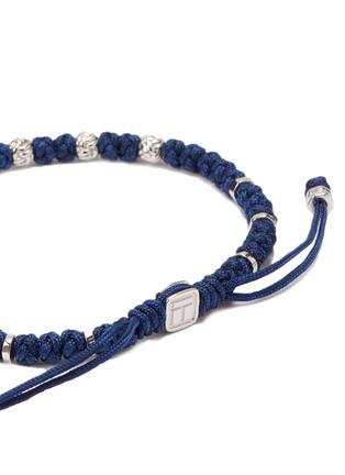 Detail View - Click To Enlarge - TATEOSSIAN - Silver bead macramé knot bracelet
