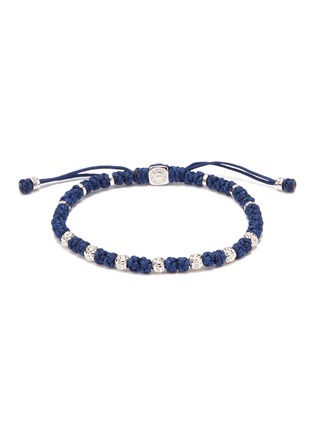 Main View - Click To Enlarge - TATEOSSIAN - Silver bead macramé knot bracelet