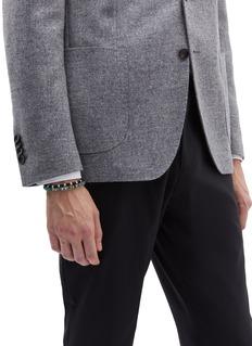 Tateossian Silver bead macramé knot bracelet
