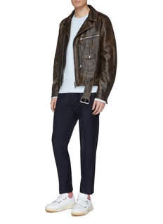 Acne Studios Aged leather biker jacket