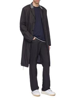 Acne Studios 'Sagan' contrast mesh collar ripstop coat