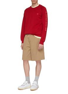 Acne Studios Slogan print raglan sweatshirt
