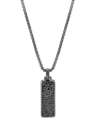 Main View - Click To Enlarge - JOHN HARDY - 'Classic Chain' sapphire rhodium silver pendant necklace