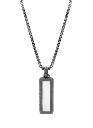 Figure View - Click To Enlarge - JOHN HARDY - 'Classic Chain' sapphire rhodium silver pendant necklace