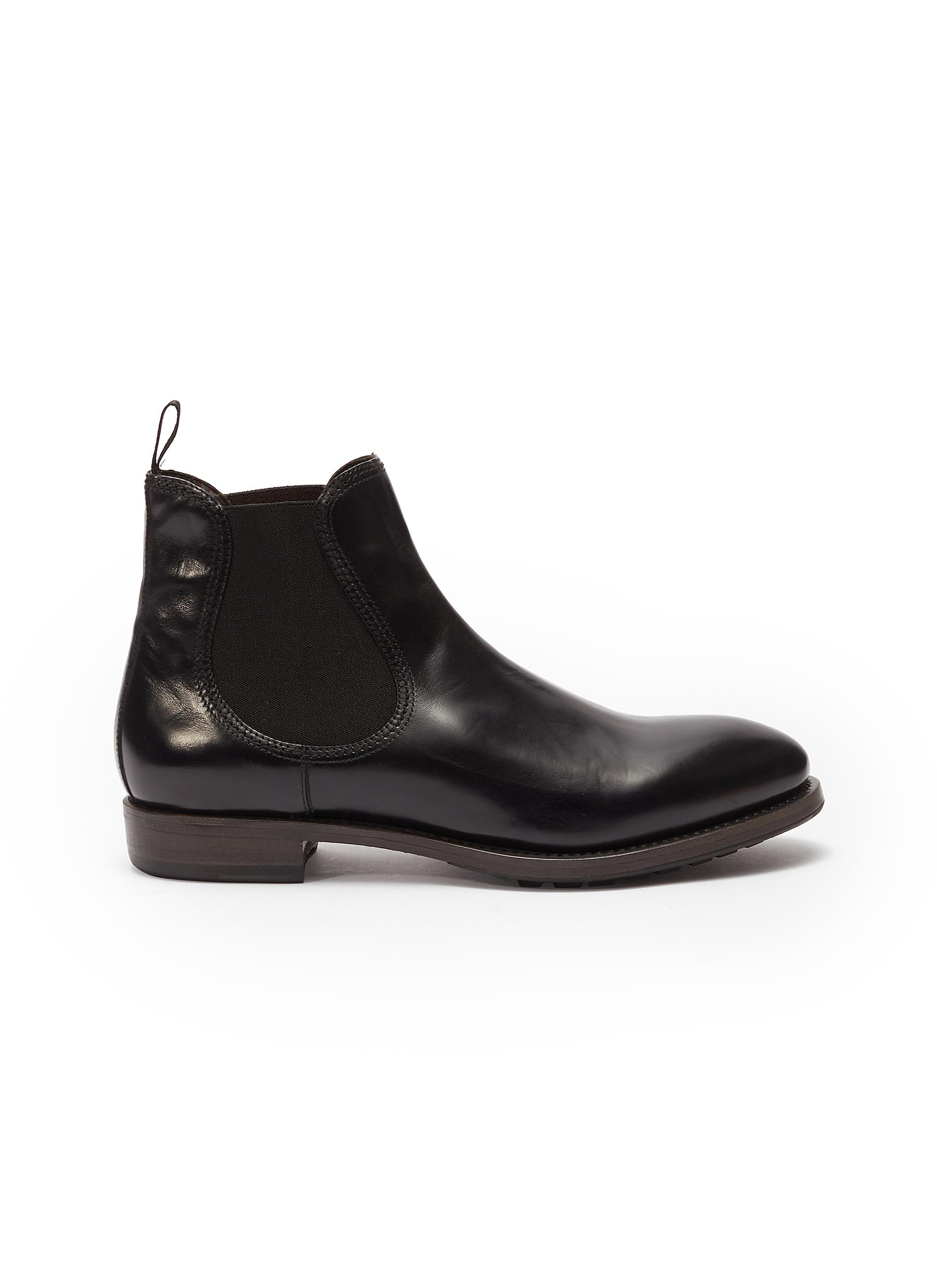 Project Twlv 'Hanoi' Leather Chelsea Boots In Black / Leather