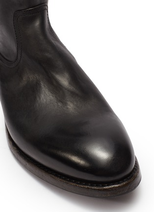 Detail View - Click To Enlarge - PROJECT TWLV - 'Flame' leather boots