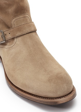 Detail View - Click To Enlarge - PROJECT TWLV - 'Lowrider' buckled suede boots