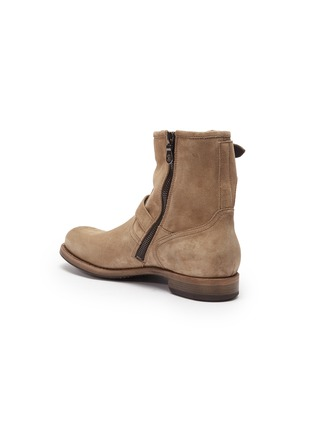 - PROJECT TWLV - 'Lowrider' buckled suede boots