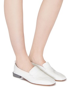 Gray Matters 'Comoda' contrast heel leather loafers