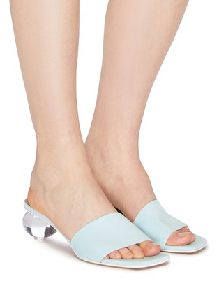 Figure View - Click To Enlarge - GRAY MATTERS - 'Mildred' egg heel suede sandals