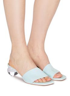 Gray Matters 'Mildred' egg heel suede sandals