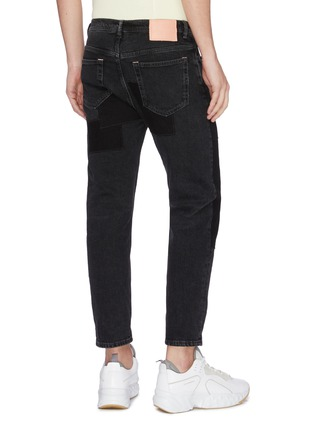 Back View - Click To Enlarge - ACNE STUDIOS - 'River' patchwork cropped jeans