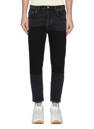 Main View - Click To Enlarge - ACNE STUDIOS - 'River' patchwork cropped jeans