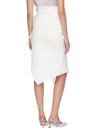 Back View - Click To Enlarge - Maticevski - 'Olimpus' ruffle drape skirt